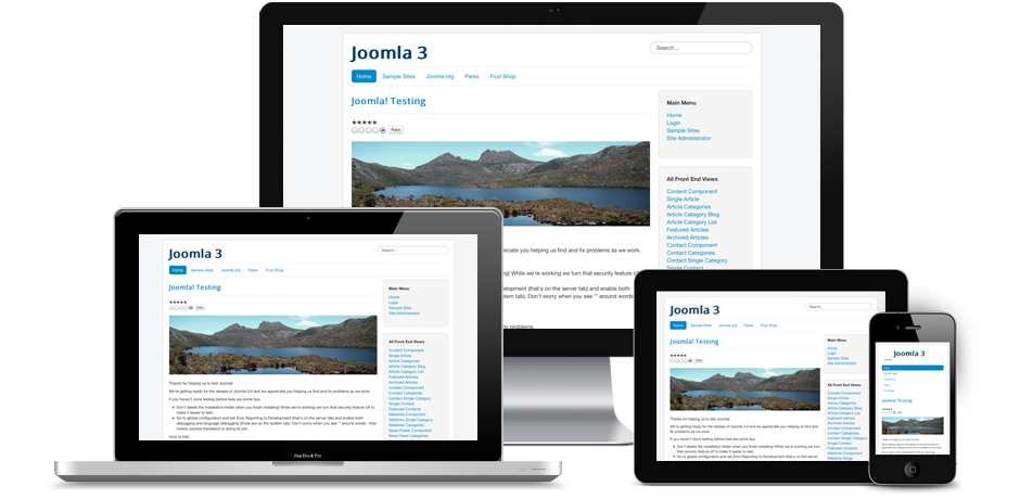 Joomla 3 mobile ready